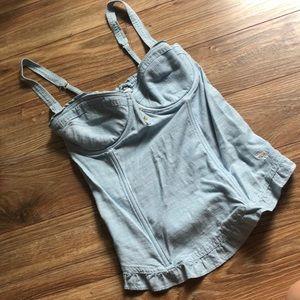 Abercrombie & Fitch blue jean corset size M